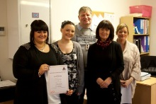 Strothers Road celebrate autism accreditation success.