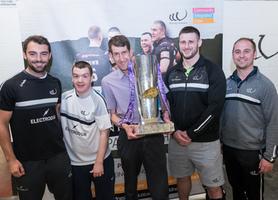 Alex Gerrard presents Super League Trophy