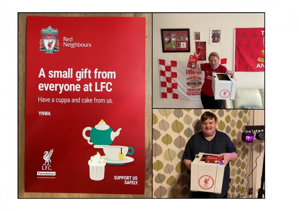 Photo collage LFC with people we support