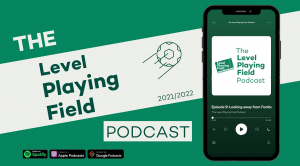 Leel Playing Field Podcast green banner.