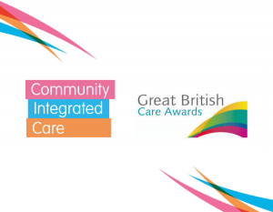 Community Integrated Care's logo and the Great British Care Awards logo.