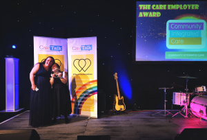 Celebrating winning Care Employer at the Great East Midlands Care Awards.
