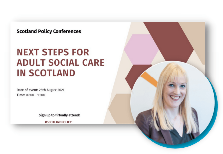 Karen Sheridan is presenting at the Next Steps for adult social care conference